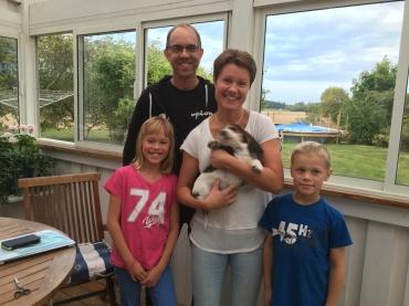 Kalle med familjen Magnus Ås