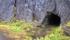 I närheten av Bjørnfjell så såg jag ett par bergsrum/grottor, som denna som man kunde gå in i här...