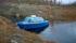 ...dock i sjön Akkajaure i Ritsem.