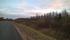 Här kommer landsvägen (som lär vara mer eller mindre byggd på banvallen) fram till stationsområdet i Karungi, där järnvägen från Övertorneå tidigare anslutit till den gamla Haparandabanan.
