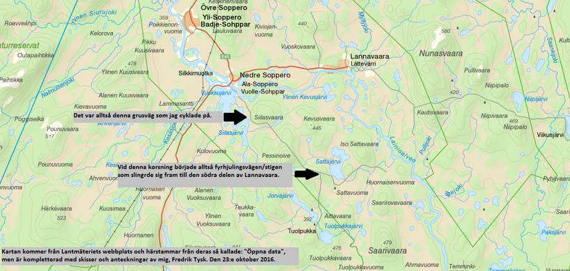 Kartbild över området.