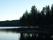 På en udde skymtar den rastplats vid Stora Luleälven som jag besökte redan under torsdagen.
