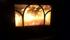 En kvällseld i kaminen i stugan som jag övernattade i under första natten.