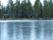 Stugplatsen Nammavárre ligger invid en frusen sjö, som man fick göra ett hål i för att få vatten.