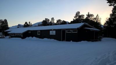 Fjällanläggningen vid Stora Sjöfallet.