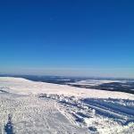 Uppe på toppen. Vid bra väder sägs det att man ska kunna se en elftedel av Sveriges yta.
