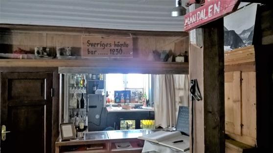 Sveriges högst belägna bar finns här.