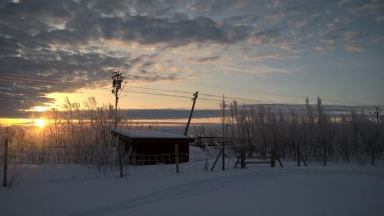 En tidig marsmorgon i Sjisjka.
