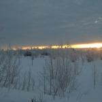 Så här års har solen börjat värma på dagarna även här uppe i norr, även om det denna tidiga morgon lär återstå några timmar tills solen har börjat leverera någon värme att tala om.