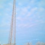 En mast sträcker sig upp mot himlen i Sjisjka.