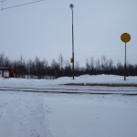 Hållplatsen i Kaitum.