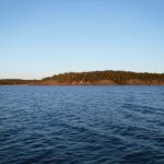 På väg ut från Mariehamn...