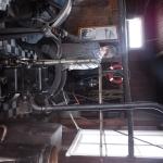 Huset innehåll ett par olika motorer till mistluren.