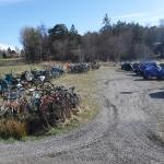 Cyklar på Arholma.