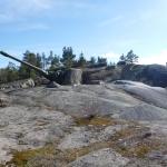 På berget på Arholma.