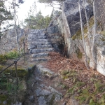 En trapp.