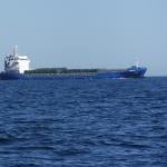 Ett fartyg som korsade min färdväg.