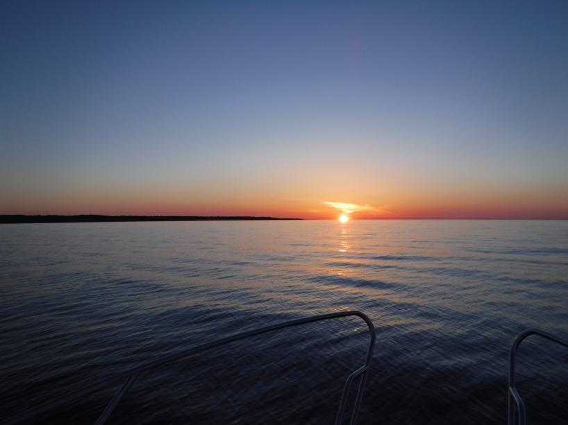 Solnedgången vid Gotska Sandön.