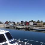 ...där båten fick vila, erbjöd platser för såväl båtar som husbilar.