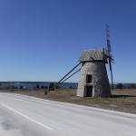 En av de många väderkvarnarna som jag såg på Fårö.