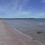 Den långa stranden vid Sudersand.