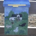Det finns många fina postlådor på Fårö och på övriga Gotland. Motiven kan vara allt ifrån djur till traktorer och andra saker.