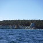 Vid Lickershamn finns Gotlands högsta rauk, nämligen Jungfrun.