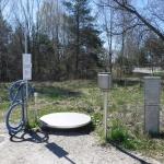 En ställe där man kan hämta vatten vid Sproge kanal.