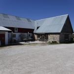 En lantgård med gårdsbutik, där jag fikade.
