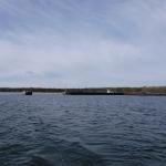 Hamnen i Nabbelund där jag övernattade på norra delen av Öland.