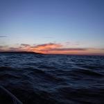 En fin kväll bland vågorna.