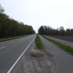 Här var det cykelbanor på båda sidorna av vägen.