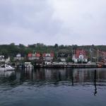 Hamnen vid Bäckviken på Ven där jag övernattade under natten mot onsdagen. Det är förövrigt till den hamnen som Venfärjan anländer.