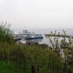 Hamnen med den ordinarie Venfärjan som går till Landskrona,...