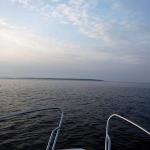 Ute på havet, när jag närmar mig Hallands Väderö.