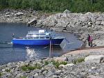 Båten Sitasjaure i Ritsem.