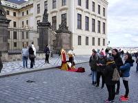 Ett område med mycket turister.
