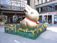 En kanin i påsktid.