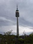Det 291 meter höga Olympiatornet i Olympiaparken i München.