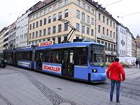 En spårvagn i München.