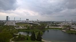 Idrottsanläggningar i Olympiaparken i München.