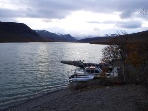Båtar i Ladtjojaure.