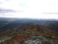 Utsikt från lågfjället Oarjemus Stubbá.