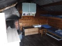 Sängplatser i Arvidssonstugan.