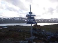 Riksgränsen mellan Sverige och Norge korsas för första gången under turen, då jag är mellan Hukejaure och Gautelishytta.