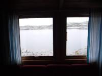 Utsikt från Skoaddejávrehytta.