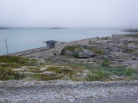 Damm i sjön Iptojávri.