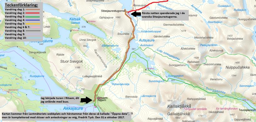 Karta 1 av 5.