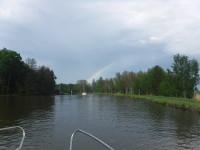 På väg mot regnbågen.