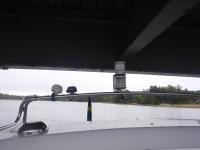 Marginalerna var inte stora under bron vid Tottnäs.